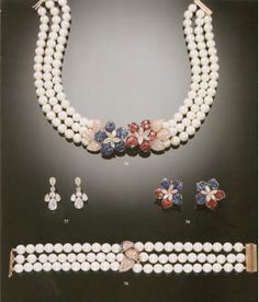 76 - A SUITE OF CULTURED PEARL AND GEM-SET JEWELLERY, BY TABBAH 77 - A PAIR IF DELICATE DIAMOND EAR-PENDANTS, BY TABBAH