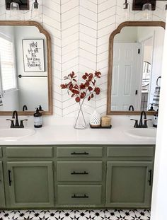 Home Renovation, Home Remodeling, Bathroom Renovations, Upstairs Bathrooms, Master Bathroom, Green Bathrooms, Green Bathroom Decor, Cottage Style Bathrooms, Small Bathrooms