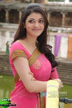 Kajal Agarwal Stills In Beautiful Pink Saree Indian Actress Hot Pics, South Indian Actress, Indian Actresses, Beautiful Bollywood Actress, Most Beautiful Indian Actress, Beautiful Actresses, Kajal Agarwal Saree, Dehati Girl Photo, Celebrity Prom Dresses