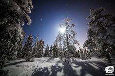 Full moon (almost) in Rovaniemi Lapland Finland. 13.1.2014