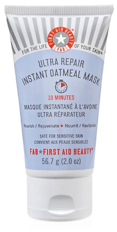 "First Aid Beauty Ultra Repair Instant Oatmeal Mask ""Hydrating dry skin has never been so easy with this easy 10 minute mask!"""