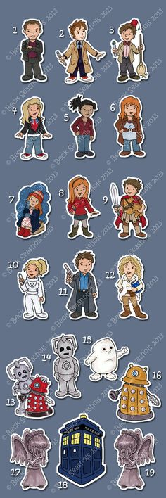 Doctor Who Hand Cut Sticker by Beckadoodles on Etsy, $1.00