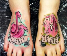 Tattoo Artist - Stoty Tattooer - Animal tattoo Now this tattoo I would consider! Flamingo Tattoo, Flamingo Art, Pink Flamingos, Tattoo Images, Tattoo Photos, Tattoo Now, Foot Tattoos, Tatoos, World Tattoo