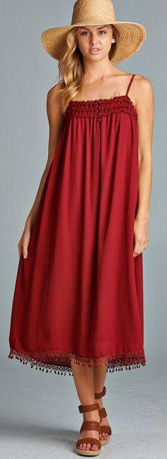 Dress in Millan Red ==