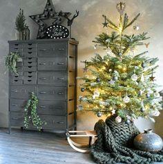 Leuk de kerstboom op een slee