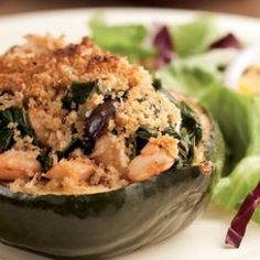 ACORN SQUASH STUFFED WITH CHARD & WHITE BEANS | Turkey-Free Thanksgiving Main Dishes | Eating Well