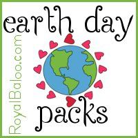 Free Printable Earth Day Packs for Toddlers, Preschool, Kindergarten, First Grade, and Second Grade.