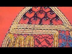 BOLILLOS - Fiandra a tres pares - Leccion 8 - Hoja con venas 1 - YouTube