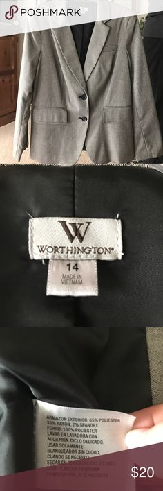 Gray woman's blazer This was bought and never worn. Perfect condition. Size 14. Can be dressed up or dressed down. This was bought from J.C. Penny's Make an offer :) Worthington Jackets & Coats Blazers