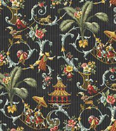 Home Decor Fabrics Waverly Mandarin Prose Onyx Fabric