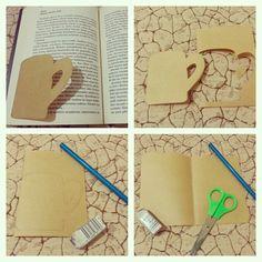 El yapımı kitap ayracı :) #handmade #bookmarks