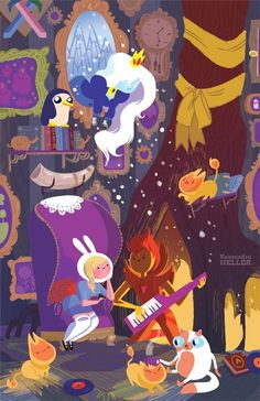 Adventure Time Comics Exclusive To San Diego Comic Con. And Other Boom Books. But Mostly Adventure Time. Cartoon Adventure Time, Fiona Adventure Time, Time Cartoon, Cartoon Shows, Marceline, Cadena Cartoon, Flame Prince, Adveture Time, Story Time