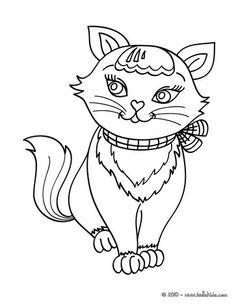 this lovely kawaii cat coloring page is available for free you can print it out