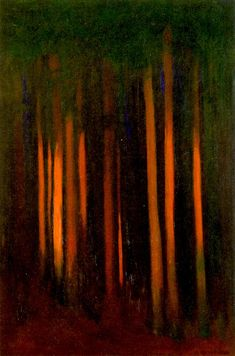 Forest Painting Hans Emmenegger 1936 Private collection Painting - oil on canvas Height: 61 cm in.), Width: 41 cm in. City Landscape, Abstract Landscape, Landscape Paintings, Watercolor Paintings, Abstract Art, Painting & Drawing, Forest Painting, Light Painting, Figurative Kunst