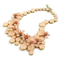 Women's J.crew Water Lily Necklace ($148) ❤ liked on Polyvore featuring jewelry, necklaces, shell pink, lily jewelry, sea shell jewelry, sea shell necklace, floral necklace and shell necklace