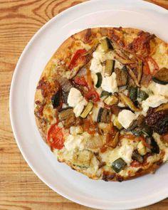 Vegetarian Pizza with Wild Mushrooms and Pesto