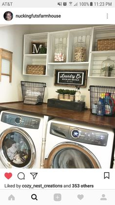 uncategorized tiny laundry room ideas incredible pin by haley pelletier on interior design laundry pic for tiny room ideas trends and organizers inspiration room decor ideas Small Laundry Room Ideas - Southern Hospitality Tiny Laundry Rooms, Laundry Room Remodel, Laundry Room Design, Laundry In Bathroom, Laundry Decor, Kitchen Remodel, Laundry Room Shelves, Bathroom Mirrors, Kitchen Shelves