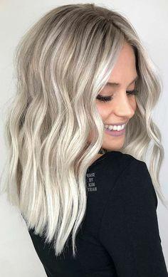 Blonde Hair Looks, Brown Blonde Hair, Platinum Blonde Hair, Medium Blonde, Silver Blonde, Blonde Wig, Medium Hair, Sand Blonde Hair, Mid Length Blonde Hair