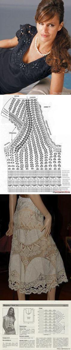 Комбинированное вязание с тканью - идеи и схемы