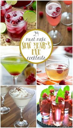 Are you ready for New Year's Eve?? It's almost time to countdown the end of 2015 and ring in 2016! Where does the time go? This year, I'm having a NYE party, and that means COCKTAILS!! I plan to have