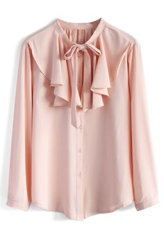 Frilling Grace Crepe Top in Pink - New Arrivals - Retro, Indie and Unique Fashion