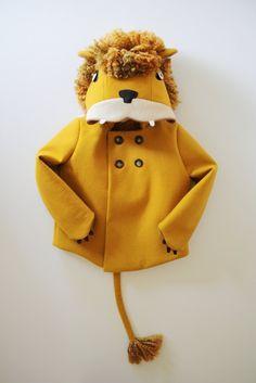 Childs Ferocious Felt Lion Coat.