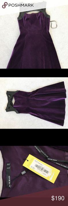 Karen Millen purple velvet dress Very cute evening dress. Size 4 runs small, I would call it a small 2. Karen Millen Dresses Wedding