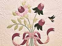 King Ivory and Rose Lancaster Treasures Quilt