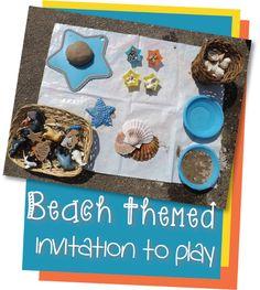 Beach Themed Invitation to Play from Creative Playhouse