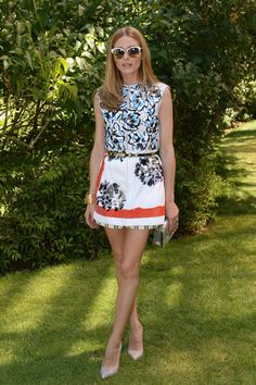 Olivia Palermo at the Christian Dior show in Paris. See more of the fashion It girl's best looks.