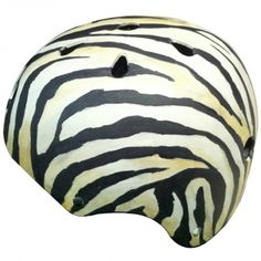 Custom Helmet -  Zebra   or design your own at www.Allsporthelmets.com
