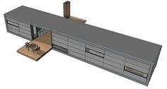 Moderne prefab bungalow