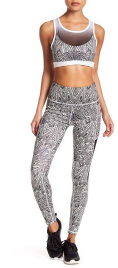 X by Gottex Print Compression Ombre Power Mesh Leggings