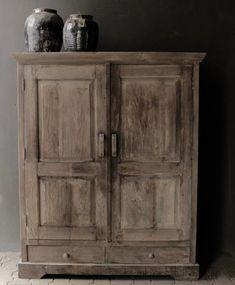 Aura peeperkorn Prachtig Stoer Landelijk massief oud houten kast