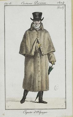 A sensible outfit for travelling. Costume parisien, an 13