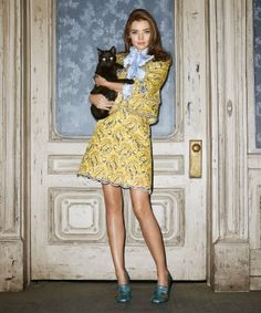 Supermodel Miranda Kerr braves a Halloween Hollywood monster mash in fall's most ladylike pieces.
