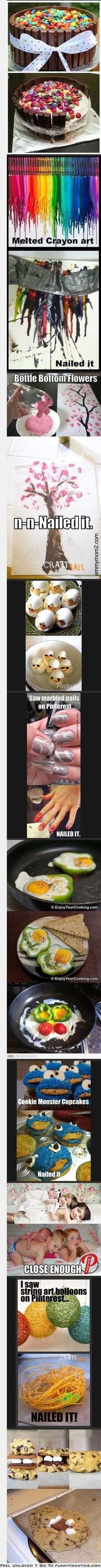 Pinterest fails - so funny, so true