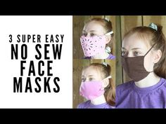 These no sew face masks use things you have around your home. From bandannas to old t-shirts to reusable shopping bags, you can make a DIY face mask! Sewing Hacks, Sewing Tutorials, Sewing Projects, Sewing Patterns, Sewing Ideas, Easy Face Masks, Diy Face Mask, Do It Yourself Videos, Too Faced