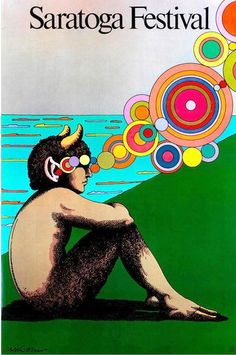 1980 Milton Glaser poster for Saratoga summer festival in upstate NY via @thinkstudionyc