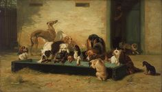 John_Charles_Dollman_-_Table_d'Hote_at_a_Dogs'_Home_-_Google_Art_Project.jpg (2765×1577)