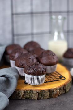 Double Chocolate Chip Muffins, Cupcakes, Great Recipes, Sweets, Snacks, Cookies, Breakfast, Desserts, Cakepops