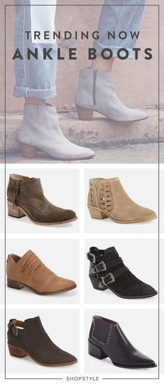 Trending Now :: Ankle Boots  The booties will be your go-to shoe for every season. Cut at the perfect height, you can rock these boots with anything from a dress to denim.