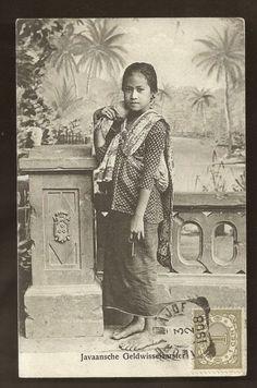 Money Changer Girl ~ Java ~ Indonesia ~ 1908