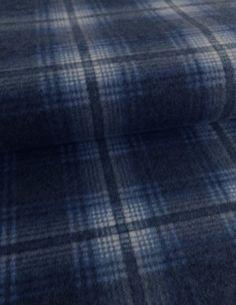 956a0e173de9 Kostky - Flanel - oboustranný - modrá - 100% bavlna