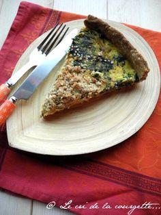 Tarte crumble aux épinards, tofu et quinoa {sans gluten, sans lactose, sans oeufs}
