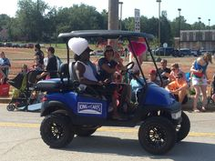 Chapin SC Labor Day Parade. Golf carts from King of Carts