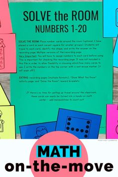 Solve the room with numbers No room for travel? No problem. Add these math cards to your small groups AND math centers. Engage Ny, Inclusion Classroom, Eureka Math, Math Groups, Math Intervention, Resource Room, Hands On Learning, Guided Math, First Grade Math