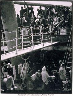 Immigrants in steerage below first class