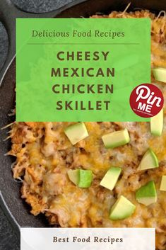 Cheesy Mexican Chicken Skillet - New Ideas Best Chicken Recipes, Chicken Salad Recipes, Skillet Chicken, Skillet Meals, Chili, Good Food, Yummy Food, Mexican Chicken, French Food