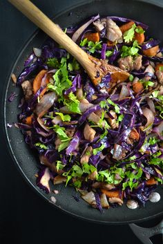 Red Cabbage, Sweet Potato, and Chicken Stir Fry | Things I Made Today